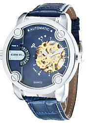 Masculino Relógio de Moda relógio mecânico Automático - da corda automáticamente Couro Banda Luxuoso