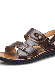 Men's Shoes Outdoor/Casual Leather Sandals Black/Brown/Khaki