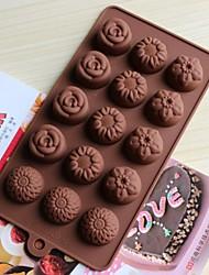 Формы для выпечки силиконовые цветы формы для выпечки для шоколад торт желе (случайные цвета)