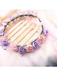 Couronnes Casque Mariage Tulle/Molleton/Plastique Femme Mariage