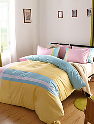 Quan Cotton Twill Fabric Bedding Four Pieces