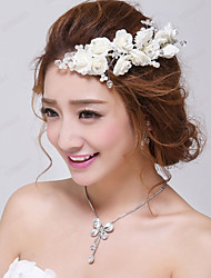 Girl Floral Wedding/Party Headpieces/Flowers with Crystals with Imitation Pearls
