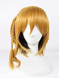 Angelaicos Women Kagerou Project KISARAGI MOMO Medium Braids Blonde Lolita Halloween Costume Cosplay Party Bob Wig