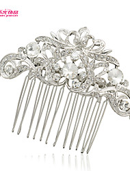 Neoglory Jewelry Wedding Hair Comb Hairpins with Clear Rhinestone and Imitation Pearl for Lady/Bridal/Daily/Pageant