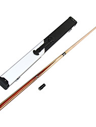 1/2 Jointed maple wood pool/ billiard cue with 13MM cue tip+Cue Case+cue tip