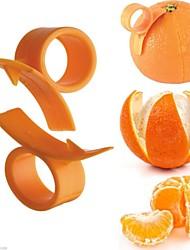 10Pcs Kitchen Tool Orange Finger Held Peeler Citrus Peel Opener