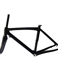 Neasty Brand 700C Full Carbon Fiber Frame and Fork 12K Glossy Carbon Black bicycle frame 52/54/56CM 18C-23C Tire