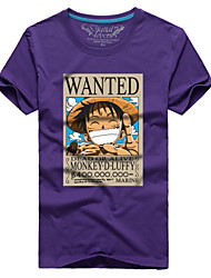 Man couple with the summer short sleeve T-shirt luffy wanted # 055