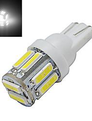 Lampe de Décoration Blanc Froid T10 3W 10 SMD 7020 210lm LM DC 12 V
