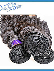 "3Pcs/Lot Peruvian Virgin Hair Kinky Curly 10""~28""Grade 6A Unprocessed Human Hair Extensions Color1B"