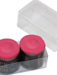 une boîte de 2 x morceaux de snooker et de billard argent craie cylindrique de différentes couleurs