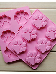 Fashion Silicone 6 Holes Cat Claws Shape Cake Bakeware Mold Soap Chocolate Kitchen Cooking Tools Food Dessert Making