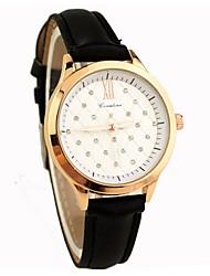 c&c ocasional relógio de couro falso das mulheres
