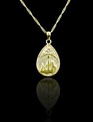 18K plaqué or véritable allah musulman pendentif zircon 3 * 1.5cm