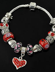 Women's Diy Bracelet with Murano Glass Beads Pan Jewelry Bracelet of 2015 New Europe Hot Sell