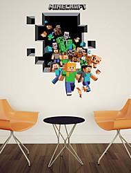 Etiquetas engomadas de la pared de la pared 3d, estilo de pvc funcionamiento pegatinas de pared