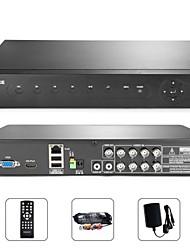 sannce® 8 * 8 canales 960H syn reproducción dvr teléfono inteligente sistema de código qr escanear p2p acceso rápido (hdmi, sin disco duro)