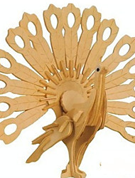 3 d puzzle paons d'artisanat en bois