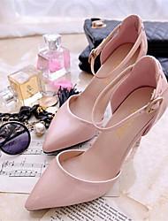 Zapatos de mujer - Tacón Stiletto - Puntiagudos - Tacones - Vestido - Semicuero - Rosa / Plata