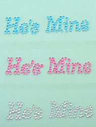 """""""He is Mine"""" Crystal Acrylic Shoe Sticker (More Colors)"""