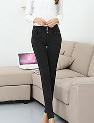Women's Black Cotton Blends Pant , Bodycon/Casual