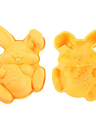 Easter Rabbit with Egg Shape Cake Baking Pan, Baking Dish, Silicone, L 29.7cm x W 21cm x H 5cm