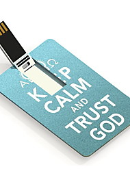 4GB Keep Calm and Trust God Design Card USB Flash Drive