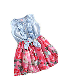 Kid's Casual/Cute Dresses (Chiffon/Polyester)