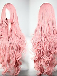 Fashion Pink Cosplay Wig  Synthetic Hair Woman's  Long Wavy Animated Wigs Cartoon Wigs Party Wig