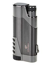 hoogwaardig titanium materiaal winddicht opblaasbare flame aansteker&sigaar punch (verschillende kleuren)