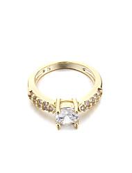 CZ Brass Jewelry Ring