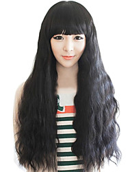 Hot Sell Like Hot Cakes Style Girl Black Corn Neat Bang Wig