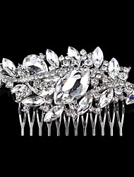 Vintage Wedding Party Bridal Bridesmaid Round Diamond Drop Crystal Hair Comb For Women