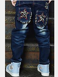 Boy's All Seasons Micro-elastic Thin Pants (Denim)