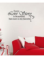 stickers muraux autocollants de mur, des mots anglais romantiques&cite muraux PVC autocollants