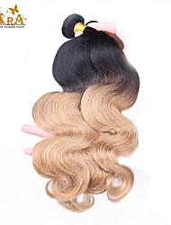 "3Pcs/Lot 10""-26"" Indian Virgin Hair Color 1B27 Body Wave Human Hair Weaves"