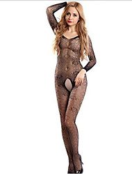 The New European And American Taste Thin Hollow Piece Netting Open Files off The Leotard-Free