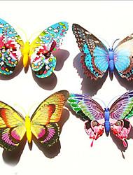 refrigerador pesada simulación, mariposa, con lentejuelas, mariposa doble