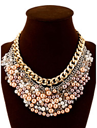 Vintage/Party/Work/Casual Alloy/Gemstone & Crystal/Imitation Pearl Statement