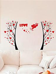 stickers muraux autocollants de mur, arbre de cupidon romantiques muraux PVC autocollants