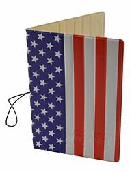 Флаг США шаблон PU владельца паспорта крышка чехол с слот / карты