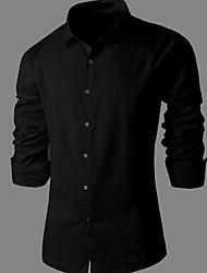 negócio fino camisa de manga longa dos homens ITT