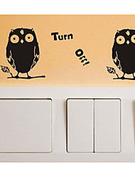 Switch Wall Stickers Wall Decals, Owl Turn off PVC Switch Sticker