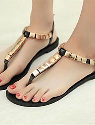 Women's Shoes Flat Heel Toe Ring Sandals Dress Gold