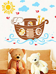 Wall Stickers Wall Decals, Animals Boats PVC Wall Stickers