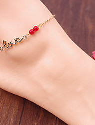 Fashion Red Pearl Anklets