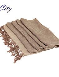 NEW Women Silk Scarf/Scarves  Ladies  Beige Gold  Flower Print Soft Chiffon Scraf Hijab