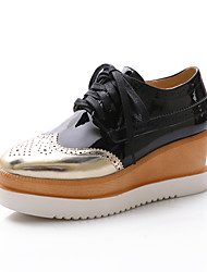 Women's Shoes Wedge Heel Round Toe Oxfords with Lace-up Casual More Colors available
