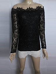 CoCo Zhang Women's Off  The Shoulder Mesh Lace Blouse