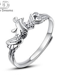 Poetry Dreams Sterling Silver Phoenix Adjustable Ring Women's Ring